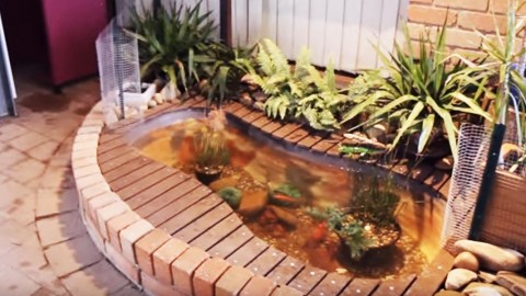 This Is The Coolest Outdoor Bathtub Fish Pond