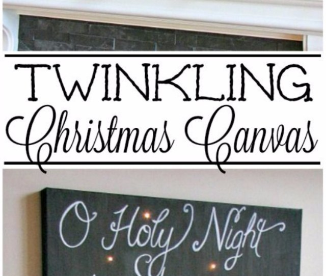 Cool Ways To Use Christmas Lights Twinkling Christmas Canvas Art Best Easy Diy Ideas