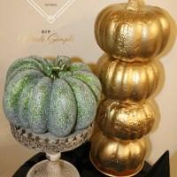 DIY Fall Pumpkin Tower