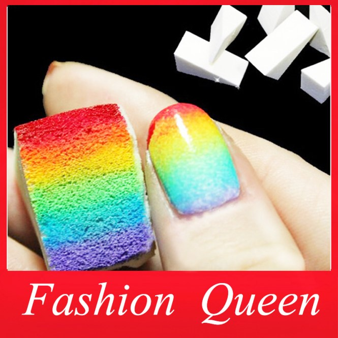 Makeup Sponge Nail Art Vidalondon