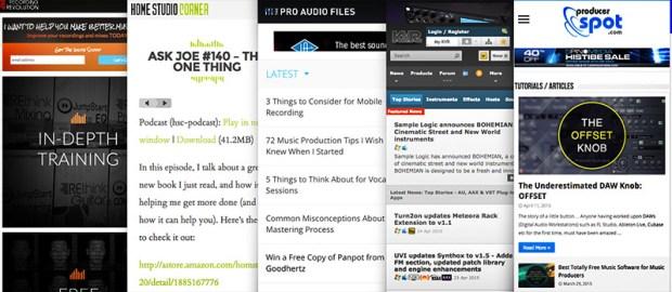 Top 5 Home-Studio Websites