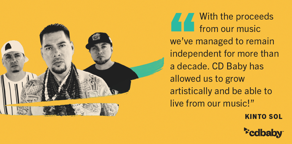 Kinto Sol testimonial about music earnings