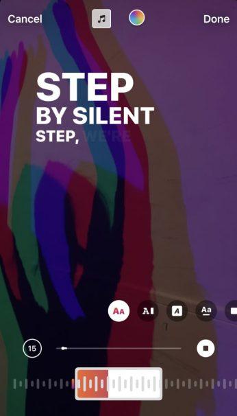 How to add your lyrics to Instagram