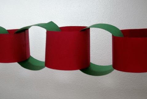 Image result for construction paper chain red green