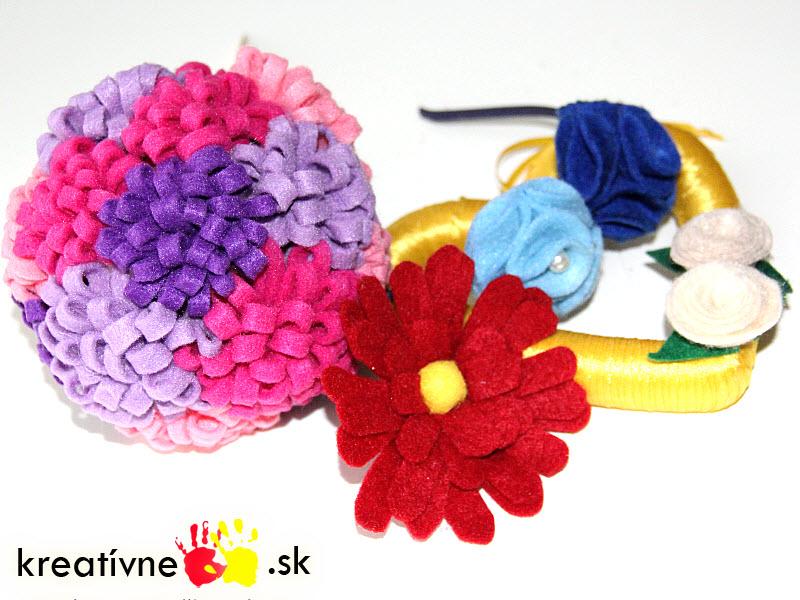 aab3e74a6b39 4 návody na kvety z filcu Dekorácie - blog.kreativneruky.sk