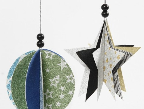 Návod na vianočné ozdoby z papiera