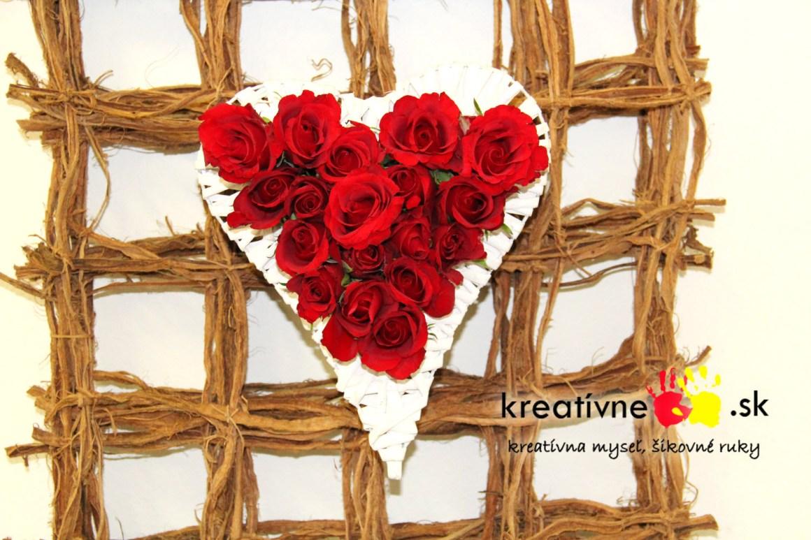 Kytica ruží v tvare srdca