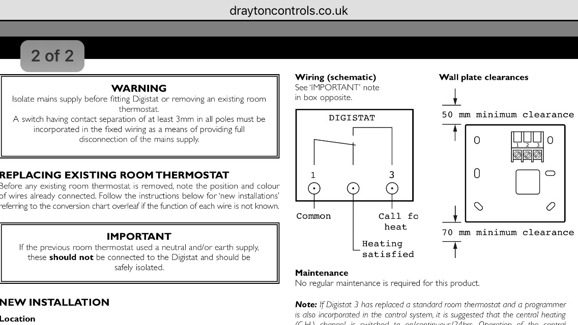 Changing Ch Room Thermostat