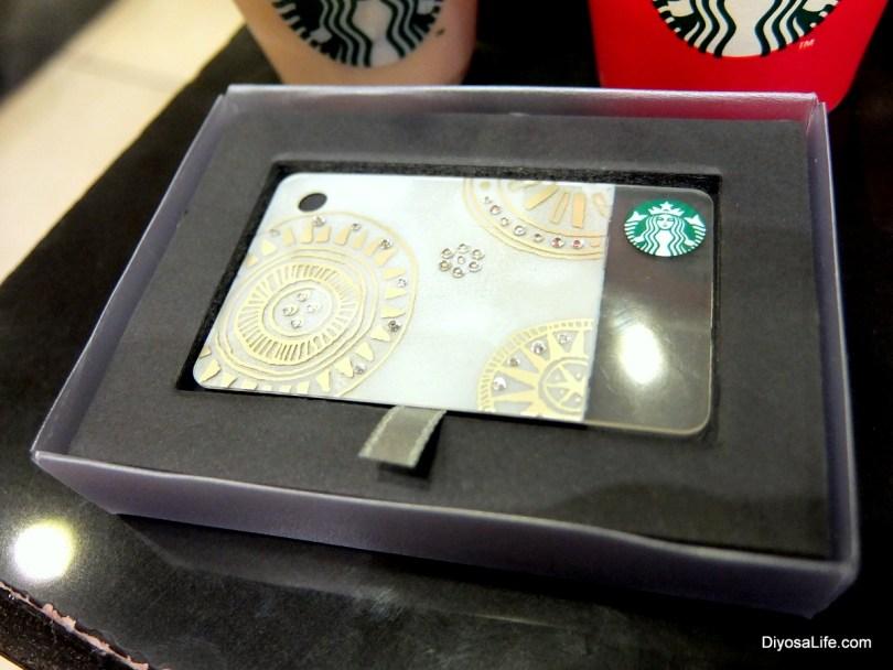 Starbucks Holiday Mini-Card with Swarovski Crystals
