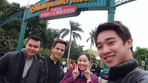 Winston, Andrew, Ria, and Madie at Disneyland HK by Madie Boie Sahid