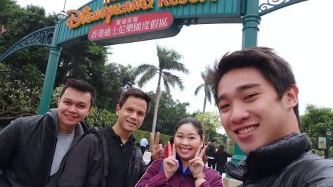 Winston, Andrew, Ria, and Madie at Disneyland HK by Madie Boie Sahid