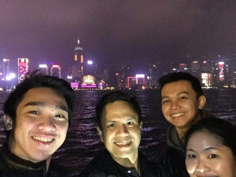 Groufie with the HK Nightscape by Madie Boie Sahid