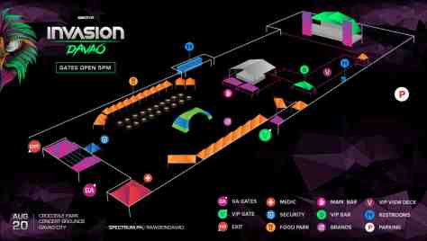 Kadayawan Invasion 2016 Site Map
