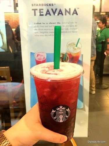 Starbucks Teavana Handcrafted Beverages: Hibiscus Tea with Pomegranate Pearls