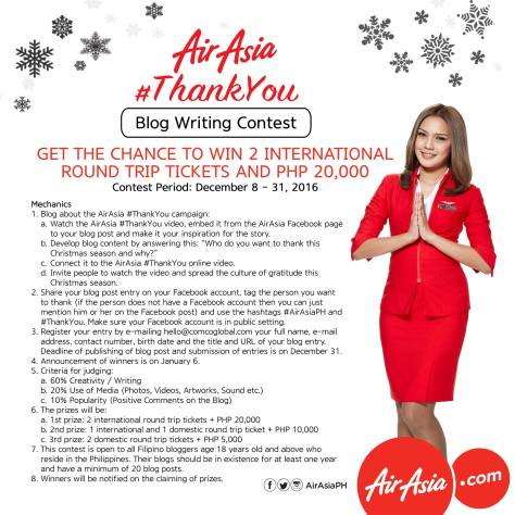 AirAsia #ThankYou Blogging Contest Mechanics
