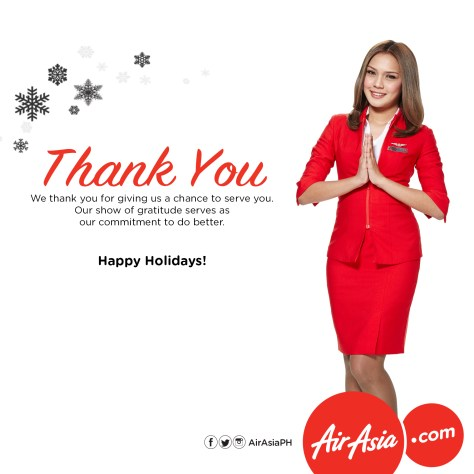 AirAsia says Thank You for Christmas 2016