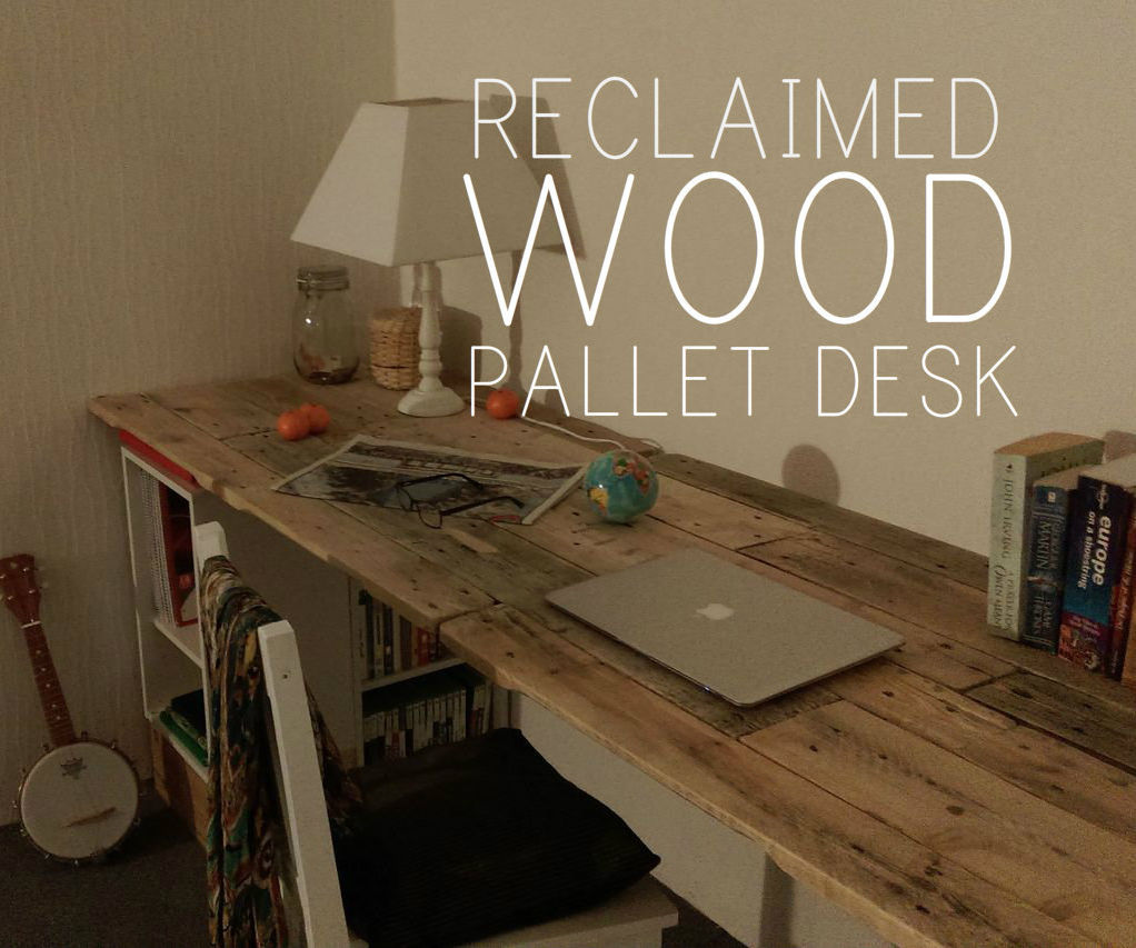 Reclaimed Wooden Pallet Desk DIY Pallet Ideas