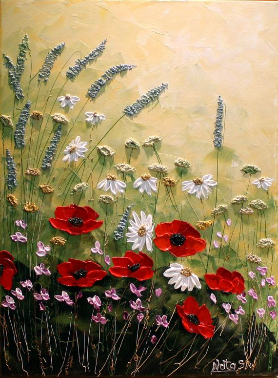 Modern Flower Paintings Acrylic