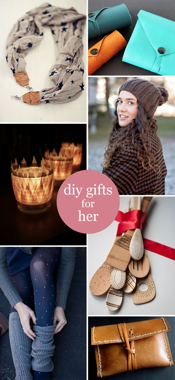 DIY Gifts for Her | Accessories, home decor, kitchen utensils and a cool way to ...