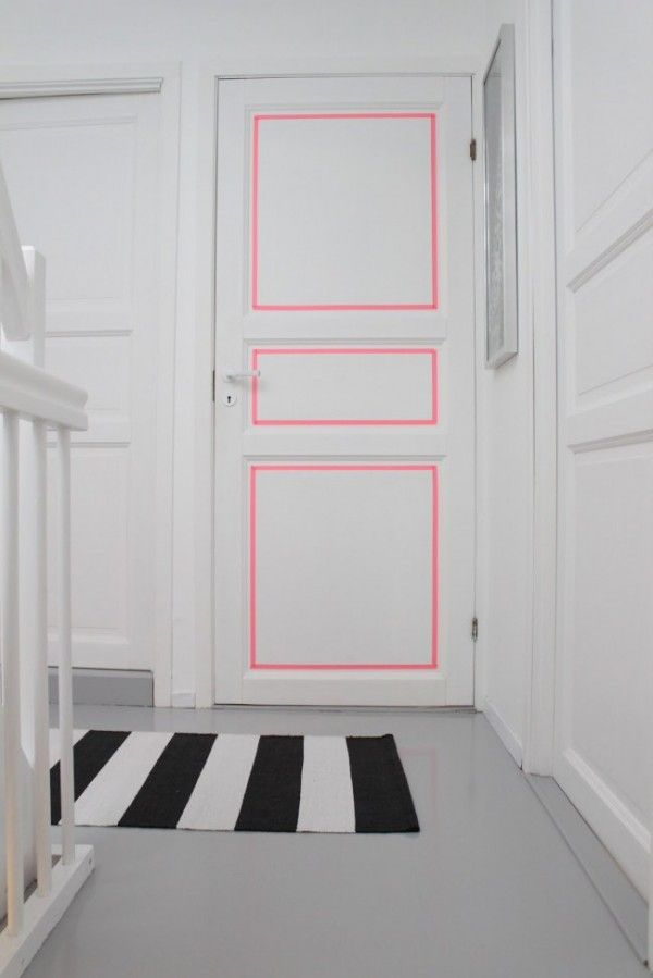 Trends Diy Decor Ideas : Masking tape pour relooker le couloir www ...