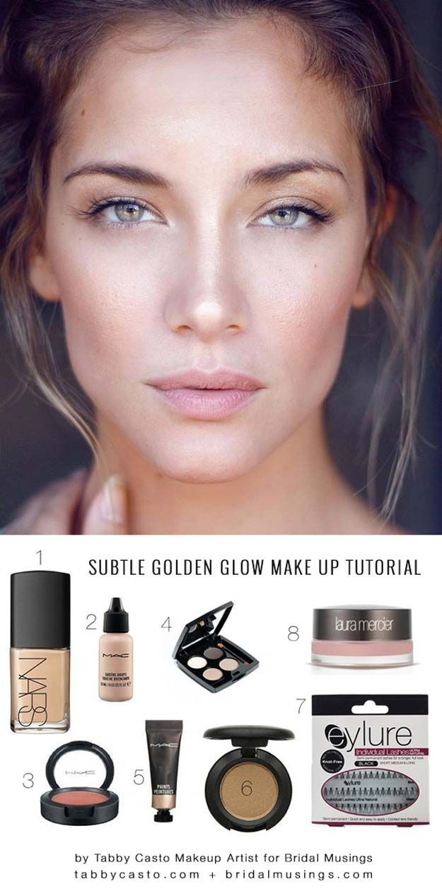 Natural Golden Glow | Gorgeous Everyday Natural Makeup Tutorials