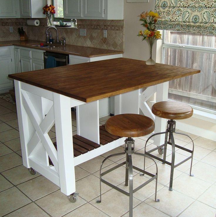 Diy furniture do it yourself kitchen island rustic x kitchen diy furniture do it yourself kitchen island solutioingenieria Image collections