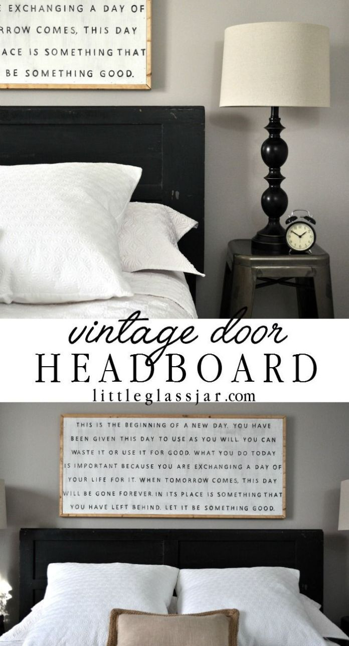 Diy Furniture See How I Used An Old Vintage Door As A
