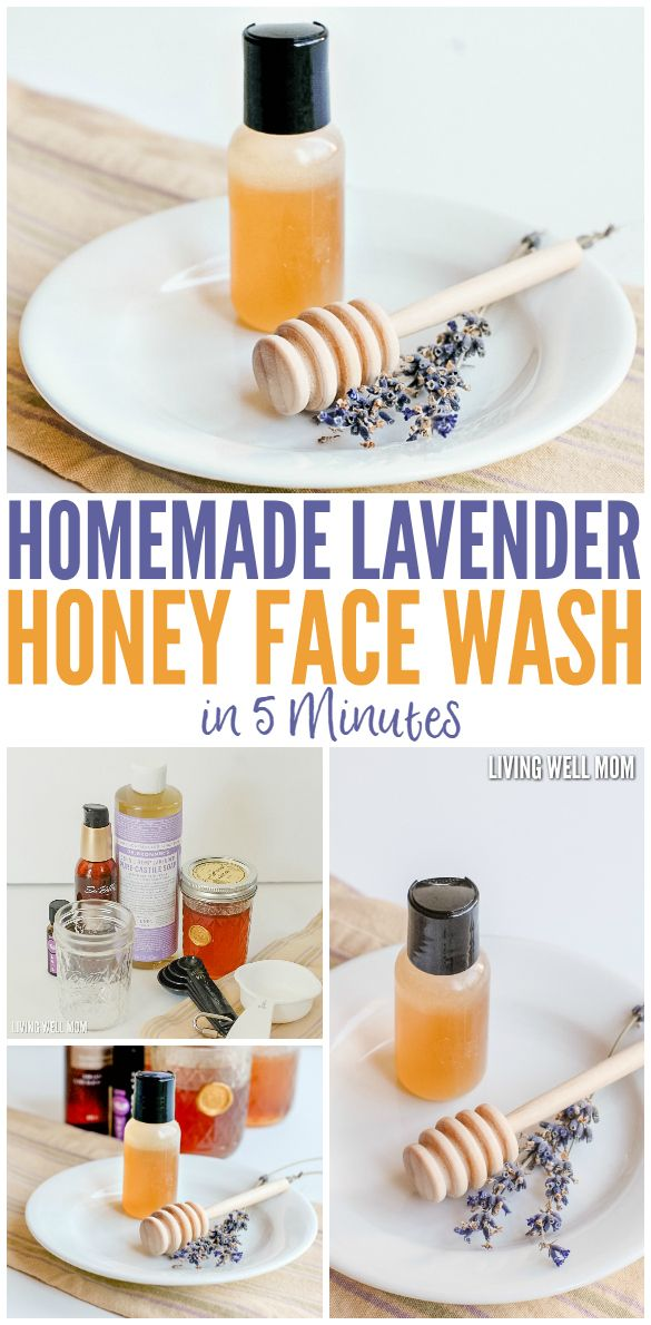 Homemade Lavender Honey Face Wash in 5 Minutes! This face wash takes just 5…...