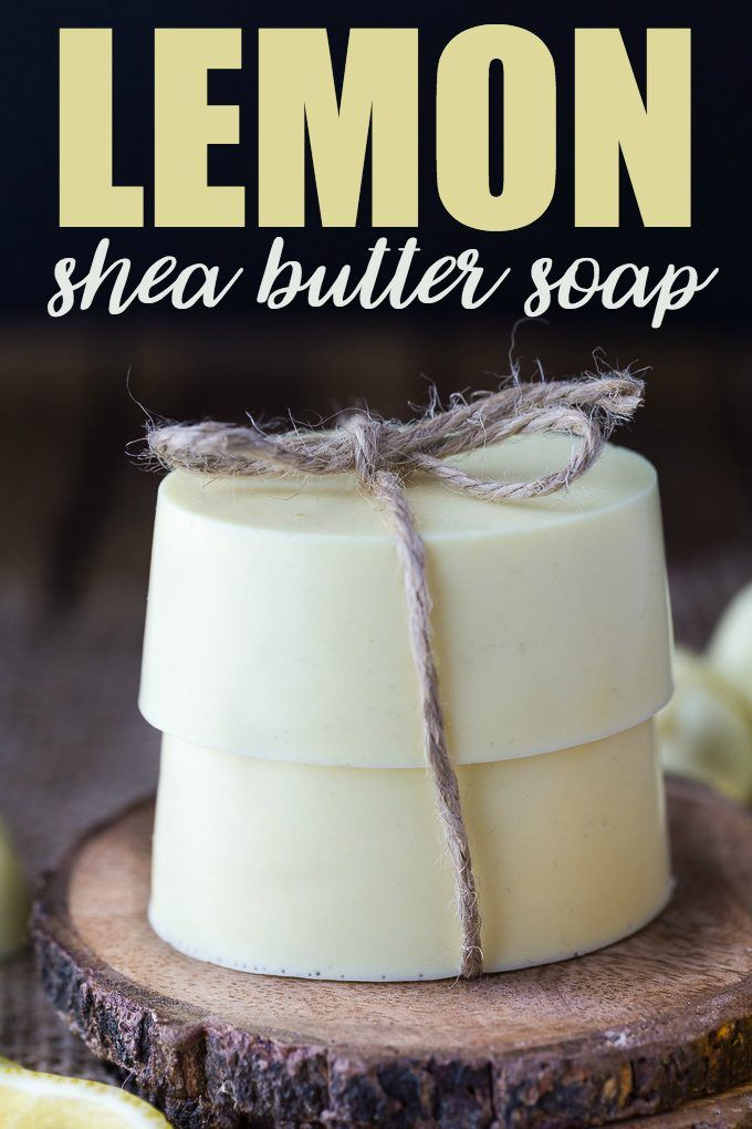 Lemon Shea Butter Soap - Creamy, smooth and fresh. This beautiful DIY soap leave...