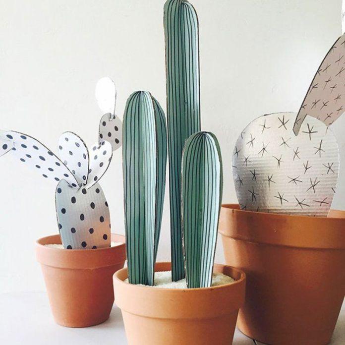 16 DIY pour réaliser des plantes en papier