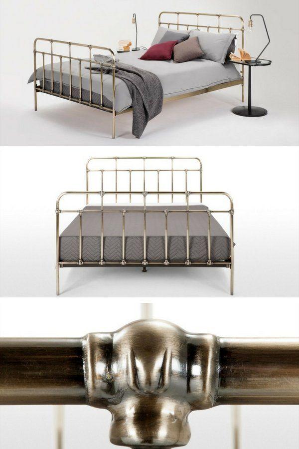 Trends Diy Decor Ideas : Lit En Laiton Design Vintage Pas Cher À