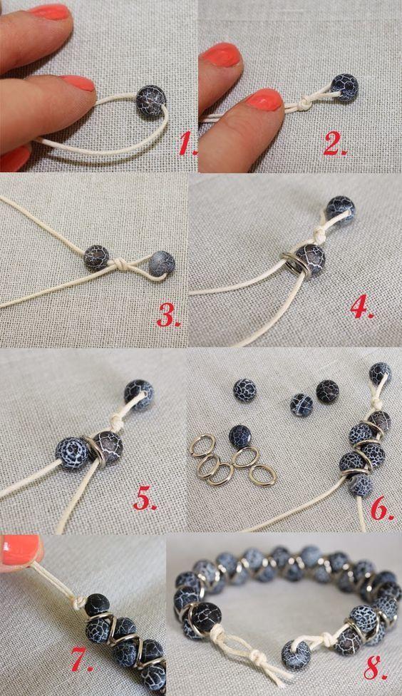 best diy ideas jewelry des perles des anneaux une ficelle your daily. Black Bedroom Furniture Sets. Home Design Ideas