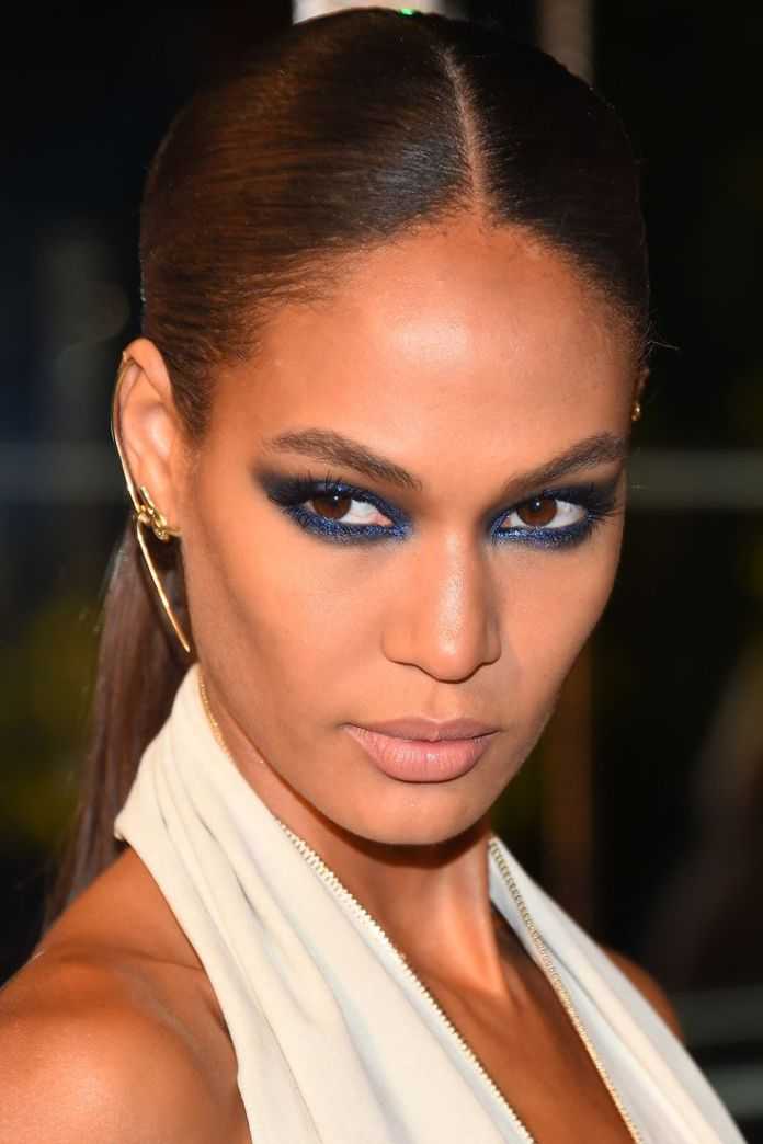 Who: Joan Smalls What: Metallic Blue Shadow  How-To: