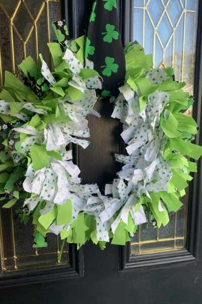 picture of St. Patrick's Day Fabric Wreath