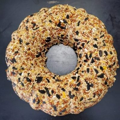 picture of a birdseed wreath