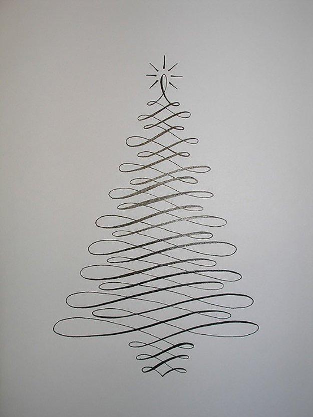 22 Handmade Calligraphy Christmas Cards DIY Christmas