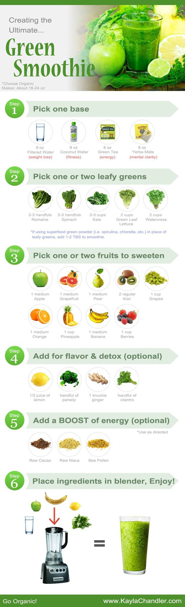 Healthy Green DIY Detox Smoothie Recipe | www.diyprojects.com/13-detox-smoothies-proven-to-boost-your-energy/