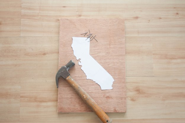 Diy String Art Ideas California State Craft By Projects At S