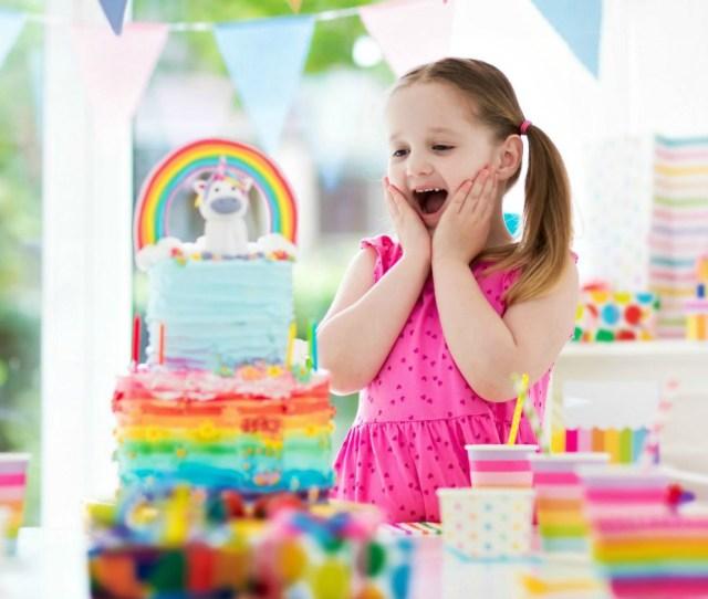 Feature Little Girl Birthday Celebration Unicorn Theme Awesome Birthday Party Craft Ideas To Make
