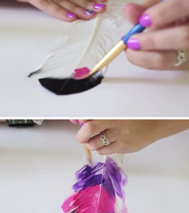 How To Paint Feathers DIY Projects Craft Ideas Amp How Tos For Home Decor With Videos