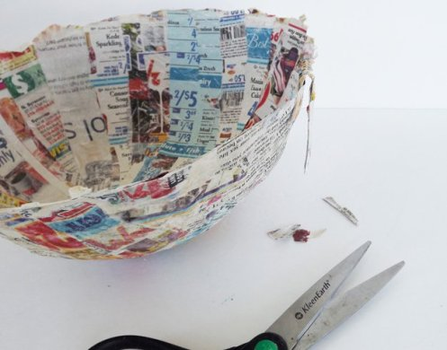 How to Make Paper Mache Bowl DIY Projects Craft Ideas   How To s for     DIY Paper Mache Bowl Home Decor   https   diyprojects com how