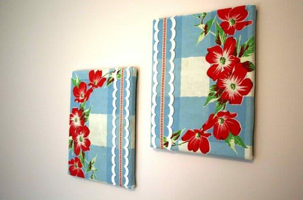 Fabric Wall Art | DIY Teen Room Decor Projects