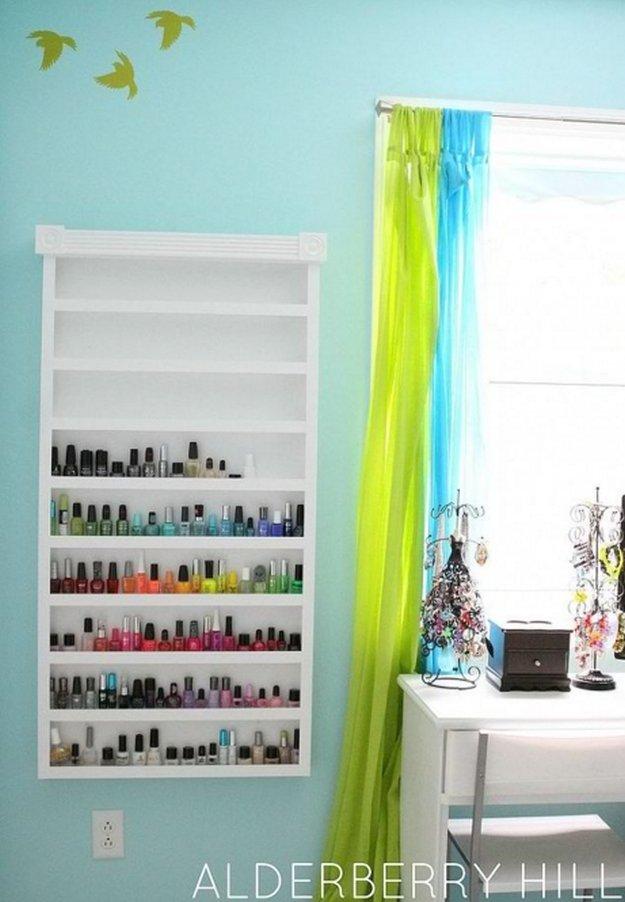 Nail Polish Shelf Diy Rack Ideas See More At S