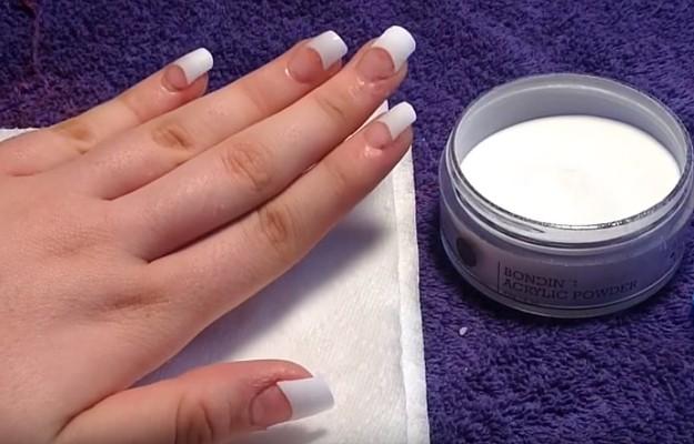 Set The Nail To Dry Diy Acrylic Nails