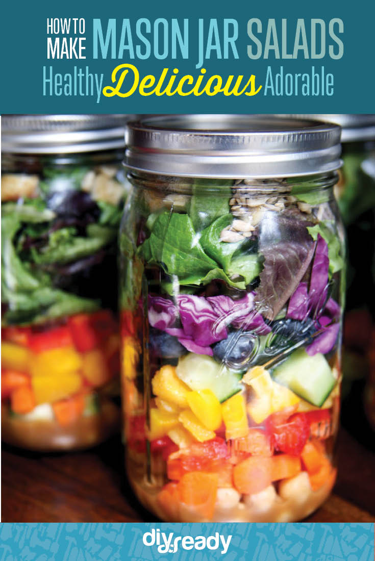 Salad Recipes in Mason Jar | Mason Jar Crafts You Can Make In Under An Hour [2nd Edition]