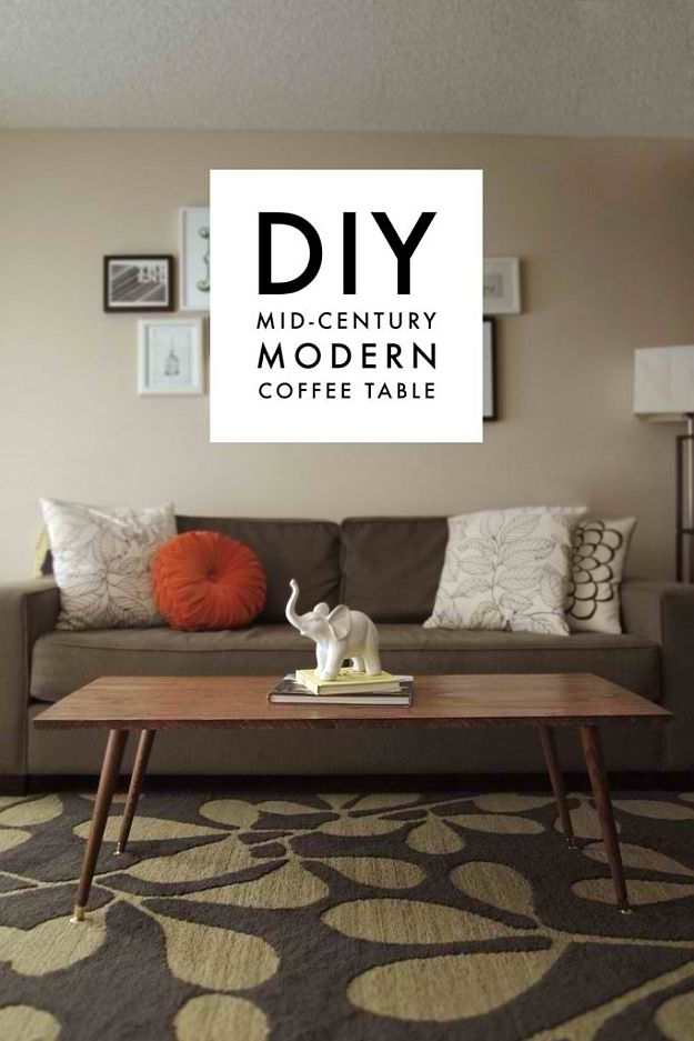 DIY Home Decorating Ideas DIY Projects Craft Ideas   How To s for     DIY Mid Century Coffee Table   DIY Home Decorating Ideas For Mid Century  Modern Lovers