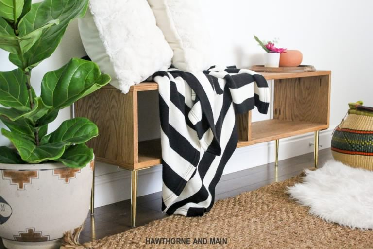 DIY Home Decorating Ideas DIY Projects Craft Ideas   How To s for     DIY Mid Century Modern Bench   DIY Home Decorating Ideas For Mid Century  Modern Lovers