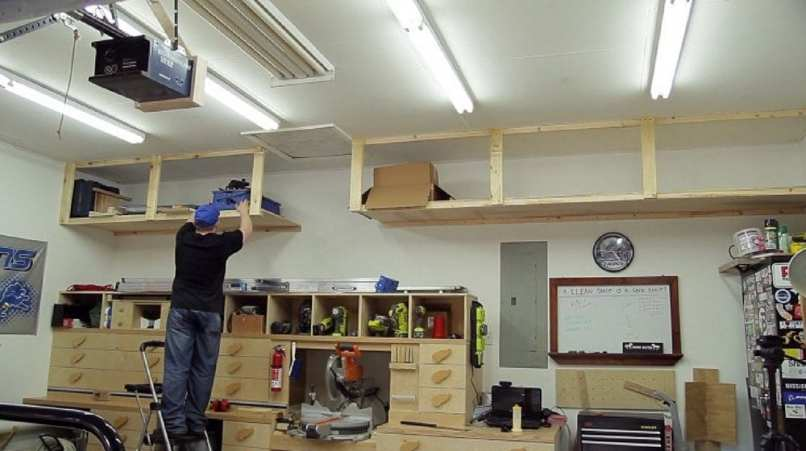 Ceiling garage storage diy theteenline diy garage storage shelves to maximize e projects solutioingenieria Image collections