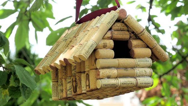 Bird House   Impressive Ways To Reuse Wine Corks
