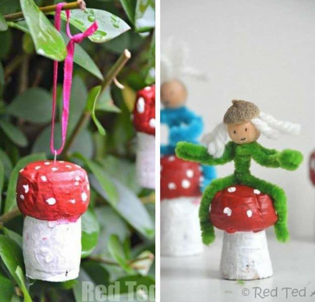 Easy Mushroom Cork Crafts   Impressive Ways To Reuse Wine Corks